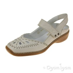 Rieker 4139160 Womens Cream Shoe