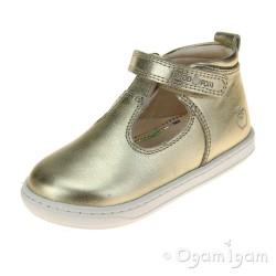 Shoo Pom Bouba Up Girls Champagne Sandal