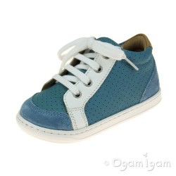 Shoo Pom Bouba Zip Box Boys Cobalt-White Shoe
