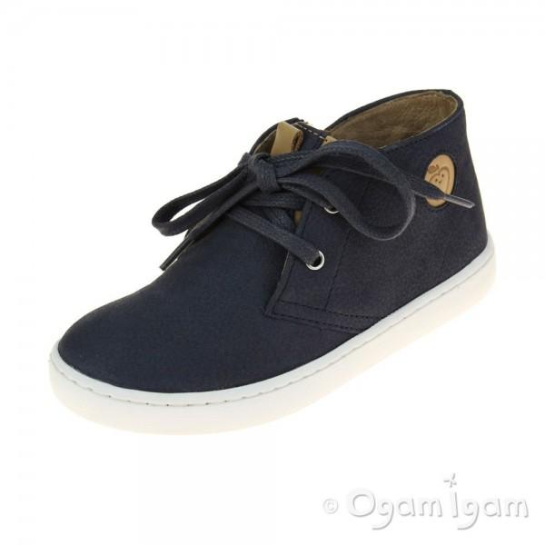 Shoo Pom Play Zip Desert Boys Navy Shoe