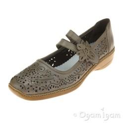 Rieker 4137263 Womens Light Grey Shoe