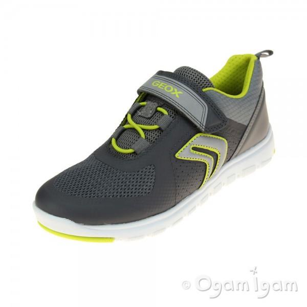 Geox Xunday Boys Grey-Lime Trainer