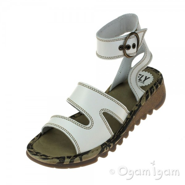 Fly London Tily Womens Off White Sandal