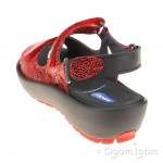 Wolky Rio Red Womens Red Crash Sandal