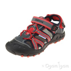 Geox Kyle Boys Dark Navy-Red Sandal