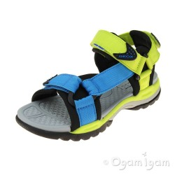 Geox Borealis Boys Lime-Light Blue Sandal