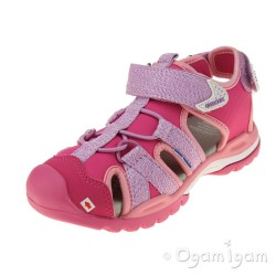 Geox Borealis Girls Lilac-Light Coral Sandal
