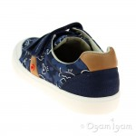 Clarks Comic Zone Jnr Boys Navy Canvas Shoe