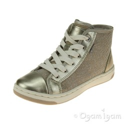 Geox Creamy Girls Platinum Summer Boot