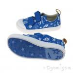 Clarks Halcy High Fst Boys Blue Canvas Shoe