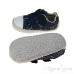 Clarks Little Chap Boys Navy Combi Canvas Shoe