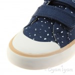 Clarks Comic Cool Inf Girls Navy Canvas Shoe