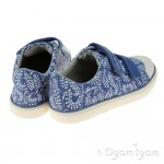 Clarks Brill Ice Inf Girls Blue Canvas Shoe