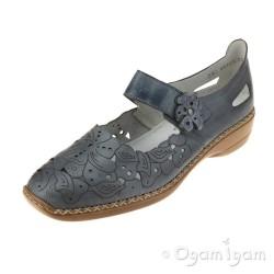 Rieker 4135812 Womens Blue Shoe