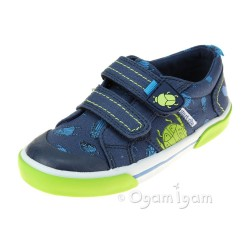 Start-rite Big Bug Boys Navy Shoe