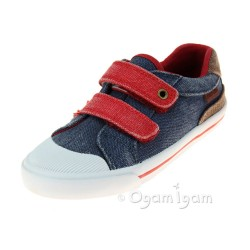 Start-rite Mason Boys Navy Washed Shoe