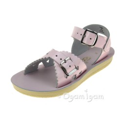 Salt-Water Sweetheart Girls Shiny Pink Sandal