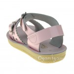 Salt-Water Sweetheart Girls Shiny Pink Sandal