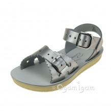 Salt-Water Sweetheart Girls Silver Sandal