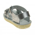 Salt-Water Sweetheart Girls Silver Sandal