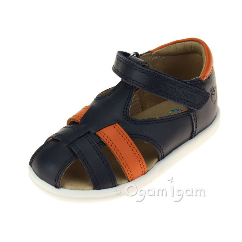 pomeranian shoo shoo pom pika be boy boys navy orange sandal ogam igam 1050