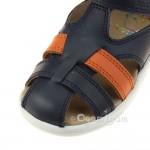Shoo Pom Pika Be Boy Boys Navy-Orange Sandal