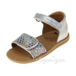 Shoo Pom Tity Scratch Girls Multi-Silver Sandal
