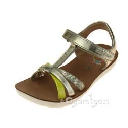 Shoo Pom Goa Salome Girls Champagne-Sun Sandal