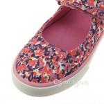 Clarks Brill Gem Inf Girls Pink Canvas Shoe