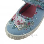 Start-rite Elsie Girls Pale Blue Canvas Shoe