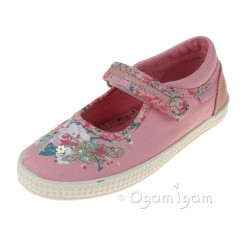 Start-rite Elsie Girls Pink Canvas Shoe