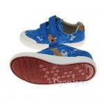 Clarks Comic Zone Inf Boys Cobalt Canvas Shoe
