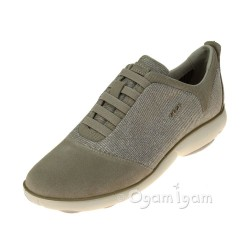 Geox Nebula Womens Lead-Light Taupe Shoe