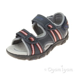 Geox Strada Boys Navy-Red Sandal