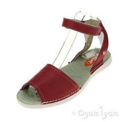 Softinos Tia Womens Red Sandal