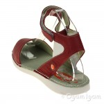 Softinos Tia Womens Red Sandal