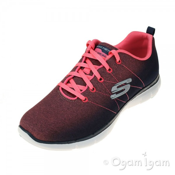 Skechers Flex Appeal 2.0 Bright Side Womens Charcoal-Coral Trainer