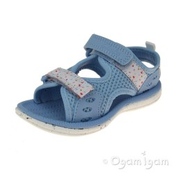 Clarks Star Games Fst Girls Pale Blue Sandal