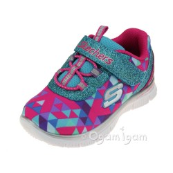 Skechers Skech Appeal Geo Gems Girls Multi Trainer