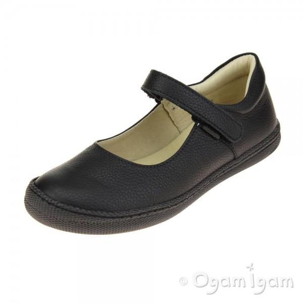 Primigi Morine 1-E Girls Black School Shoe