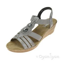 Rieker Womens Grey Sandal 62459