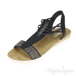 Rieker Womens Navy Sandal 63062