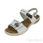 Rieker Womens White Sandal 65972