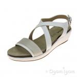 Geox Abbie Womens White-Silver Sandal