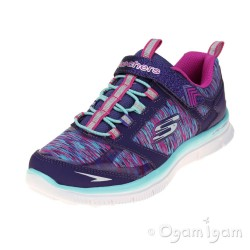 Skechers Skech Appeal Daring Dream Girls Purple-Multi Trainer