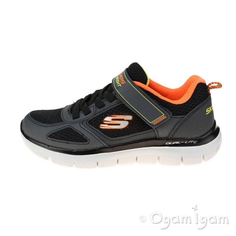 f77cc7a0d885 ... Skechers Flex Advantage 2.0 Boys Charcoal-Black Trainer ...