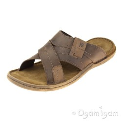 Josef Seibel Paul 29 Mens Brasil Brown Combi Sandal