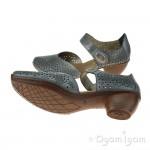 Rieker Womens Light Denim Sandal 43711