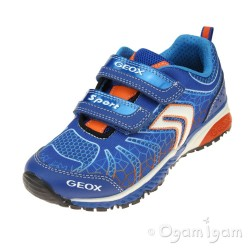 Geox Bernie Boys Royal Blue-Orange Trainer