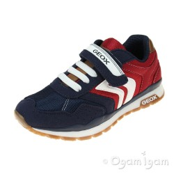 Geox Pavel Boys Navy-Red Trainer